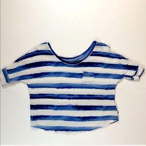 Girl's Abercrombie Tie Dye Striped Crop Tee